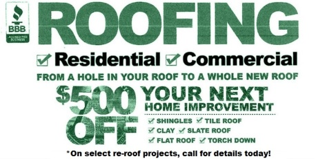 Residential Roofing Discounts